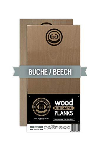 Grillgold Räucherbrett Wood Grilling Planken 2er Set Buche