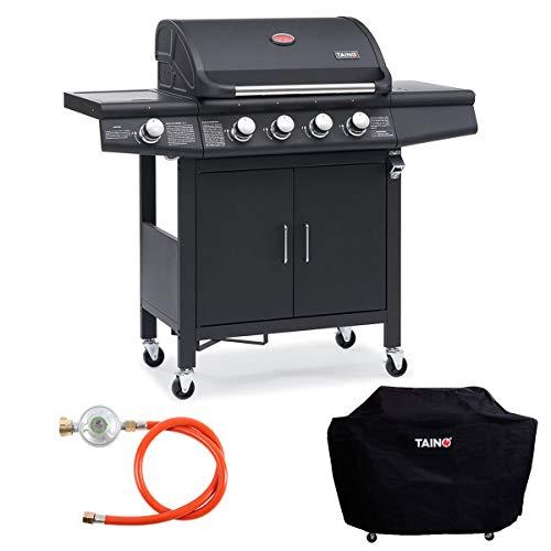 TAINO Grillplatte für PRO/RED Serie Wendeplatte Gusseisen Pizzaplatte Gasgrill-Zubehör Universal 5kg
