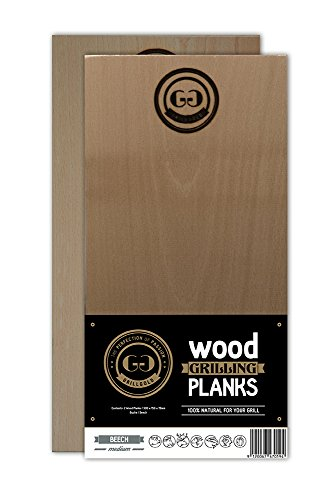 Grillgold Räucherbrett Wood Grilling Planks 2er Set Buche